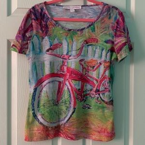 Leoma Lovegrove Pink Racer Shirt EUC